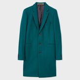 Paul Smith Men's Teal Wool-Cashmere Overcoat
