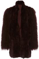 Anna Sui Mongolian Trimmed Rex Coat