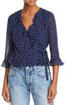 Bardot Polka Dot Wrap Top - 100% Exclusive