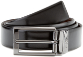 HUGO Men's CElvio Gunmetal Reversible Belt - Black/Brown