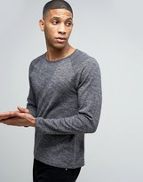 Esprit Fine Knit Slub Sweater With Raglan Sleeve Detail