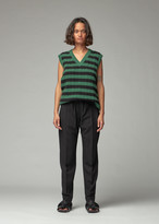 Green & Black Plan C PLAN C Women's Stripe Knit in Green Black Size 38