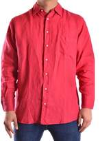 Z Zegna Men's Red Linen Shirt.