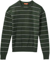 Joe Fresh Men's Stripe Pullover, Dark Green (Size S)