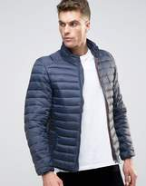 Pull&Bear Puffer Jacket In Navy