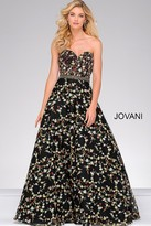 Jovani Beaded Waistline Sweetheart Neck Dress 47749