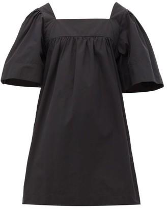 Three Graces London Sofia Cotton-poplin Mini Dress - Black