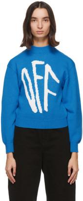 Off-White Blue Graffiti Sweater