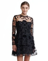 Cynthia Rowley Flocked Tulle Party Dress