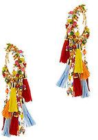 Rosantica Bead And Tassel Fringe Hoop Earrings