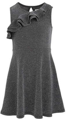 Epic Threads Toddler Girls Ruffle-Front Metallic Dress