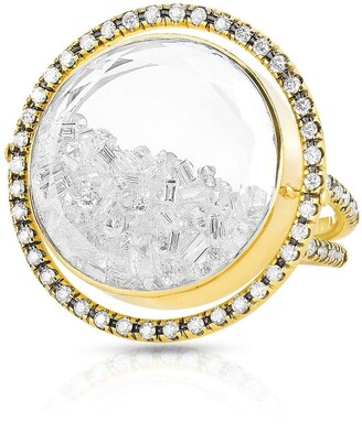 Moritz Glik Movable Halo Diamond Shaker Ring