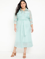 ELOQUII Unlined Sheer Jacket Dress