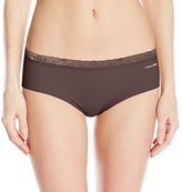 Calvin Klein Women's Perfectly Fit Invisibles with Lace Hipster Panty