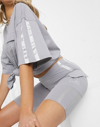 The Couture Club shorts with side pocket in grey