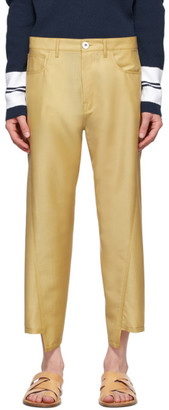 Lanvin Yellow Twisted Jeans