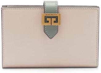 Givenchy Gv3 Logo-buckle Leather Bi-fold Wallet - Beige Multi