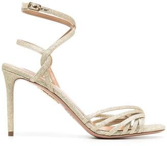 Aquazzura May 85mm glitter sandals