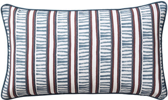 OKA Stem Stripe Cushion Cover - Woad Blue