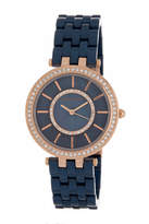 Anne Klein Women's Swarovski Crystal Embellished Bracelet Watch, 34mm
