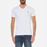Polo Ralph Lauren Men's Short Sleeve Custom Fit VNeck T-Shirt - White