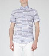 Reiss Glory Tonal Print Shirt