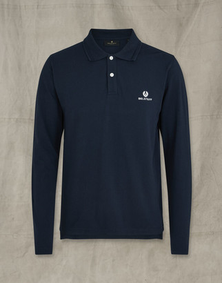 Belstaff LONG SLEEVED POLO navy