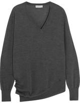 Balenciaga Wool, Silk And Cashmere-blend Sweater - Charcoal