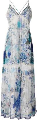 Camilla White Moon Print gathered dress