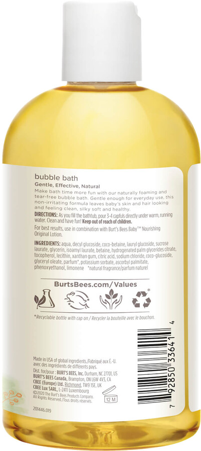 Thumbnail for your product : Burt's Bees Baby Bee Bubble Bath (350ml)