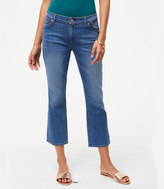 LOFT Curvy Kick Crop Jeans in Vivid Indigo Wash