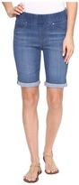 Liverpool Sienna Pull-On Rolled-Cuff Bermuda in Silky Soft Denim in Coronado Mid Women's Shorts