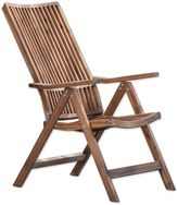 A & B Home Bayside Retreat Adjustable Lounge Chair in Teak