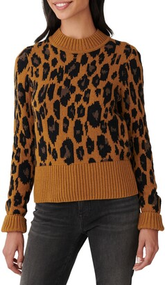 Lucky Brand Leopard Intarsia Sweater