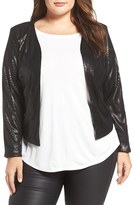 City Chic Plus Size Women's Crop Sequin Jacket