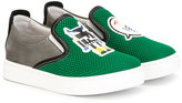 Fendi logo slip-on sneakers