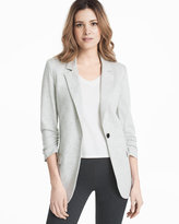 White House Black Market Soft Gray Blazer