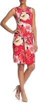 T Tahari Floral Print Sleeveless Dress