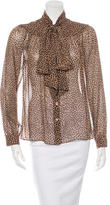 Michael Kors Silk Long Sleeve Blouse