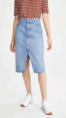 Levi's Deconstructed Split Skirt