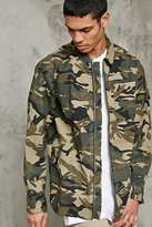 Forever 21 Zippered Camo Jacket