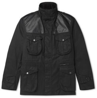 Barbour Gold Standard Supa-Corbridge Leather-Trimmed Waxed-Cotton Jacket