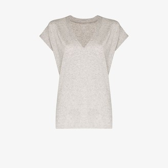 Frame Grey V-neck T-shirt