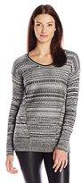 Calvin Klein Jeans Women's Stitch Mixed Scoop Neck
