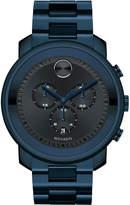 Movado 44mm Bold Chronograph Watch, Blue