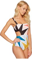 Mara Hoffman Superstar Cut Out Side One-Piece Women's Swimsuits One Piece