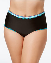 Jessica Simpson Plus Size High-Waist Bikini Bottoms