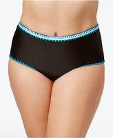 Jessica Simpson Plus Size High-Waist Bikini Bottoms