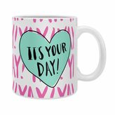 """DENY Designs Allyson Johnson """"It's Your Day"""" Mugs (Set of 2)"""