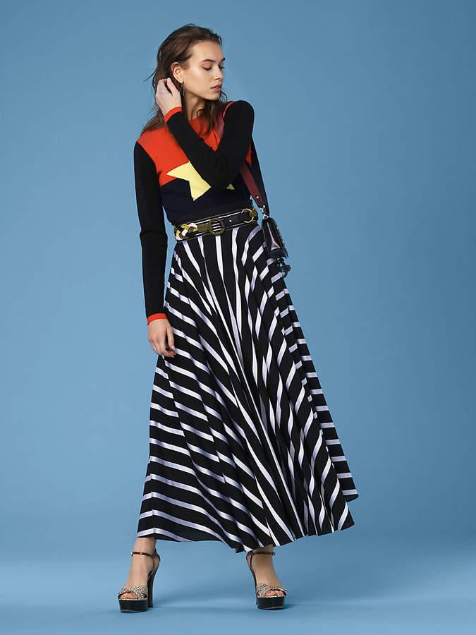 Diane von Furstenberg Long-Sleeve Star Sweater